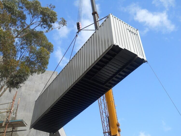 Crane Lifting A Container | Container Rental & Sales 012