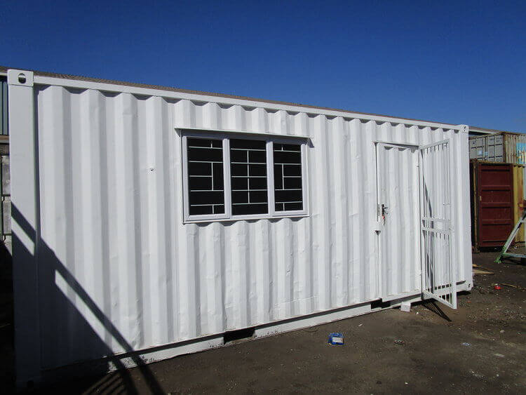 White Shipping Office Container With Windows