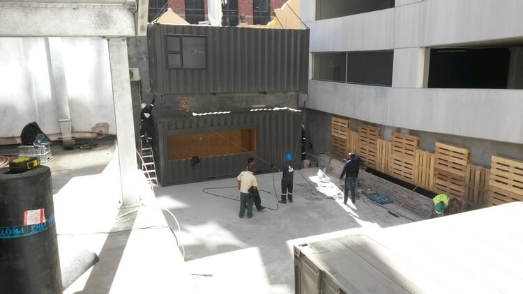 Placing A Shipping Container On Top Of Another   Container Rental & Sales 020