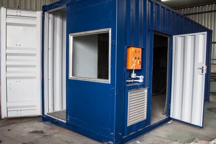 Blue Container With Open Doors | Container Rental & Sales