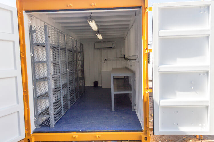 Yellow Container Inside View | Container Rental & Sales 031