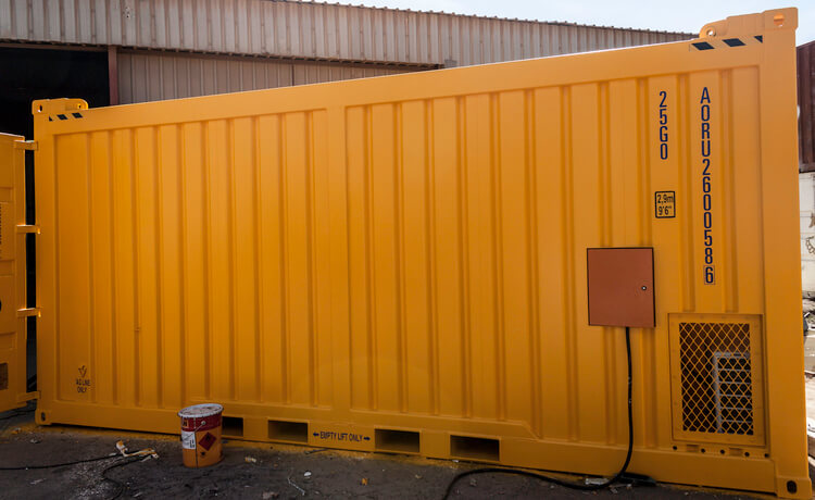Yellow Container Outside View | Container Rental & Sales