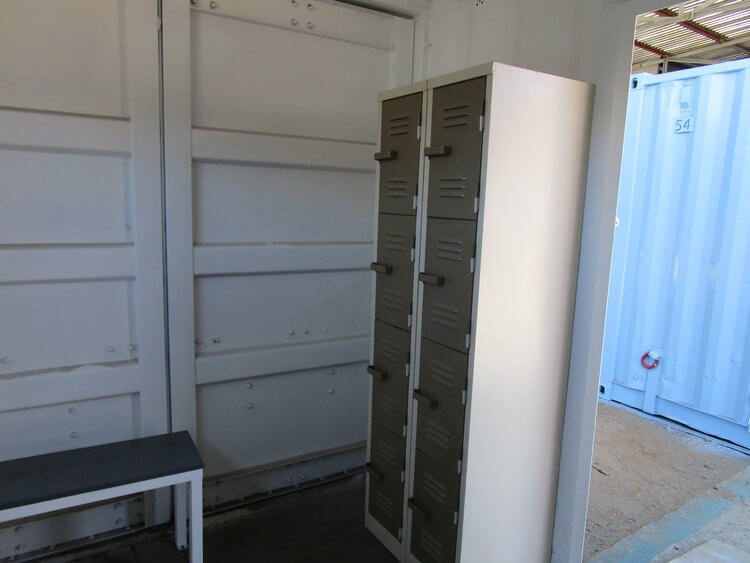 Shipping Container With Fitted Lockers | Container Rental & Sales 651