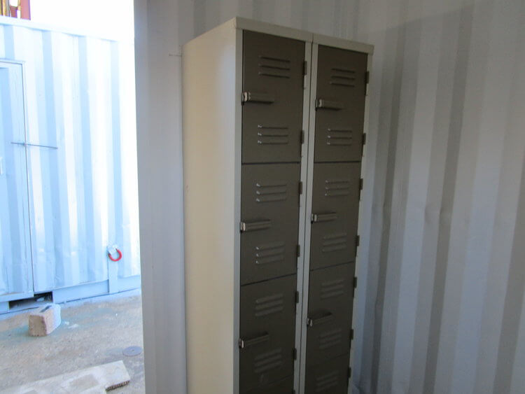 Shipping Container With Fitted Lockers | Container Rental & Sales