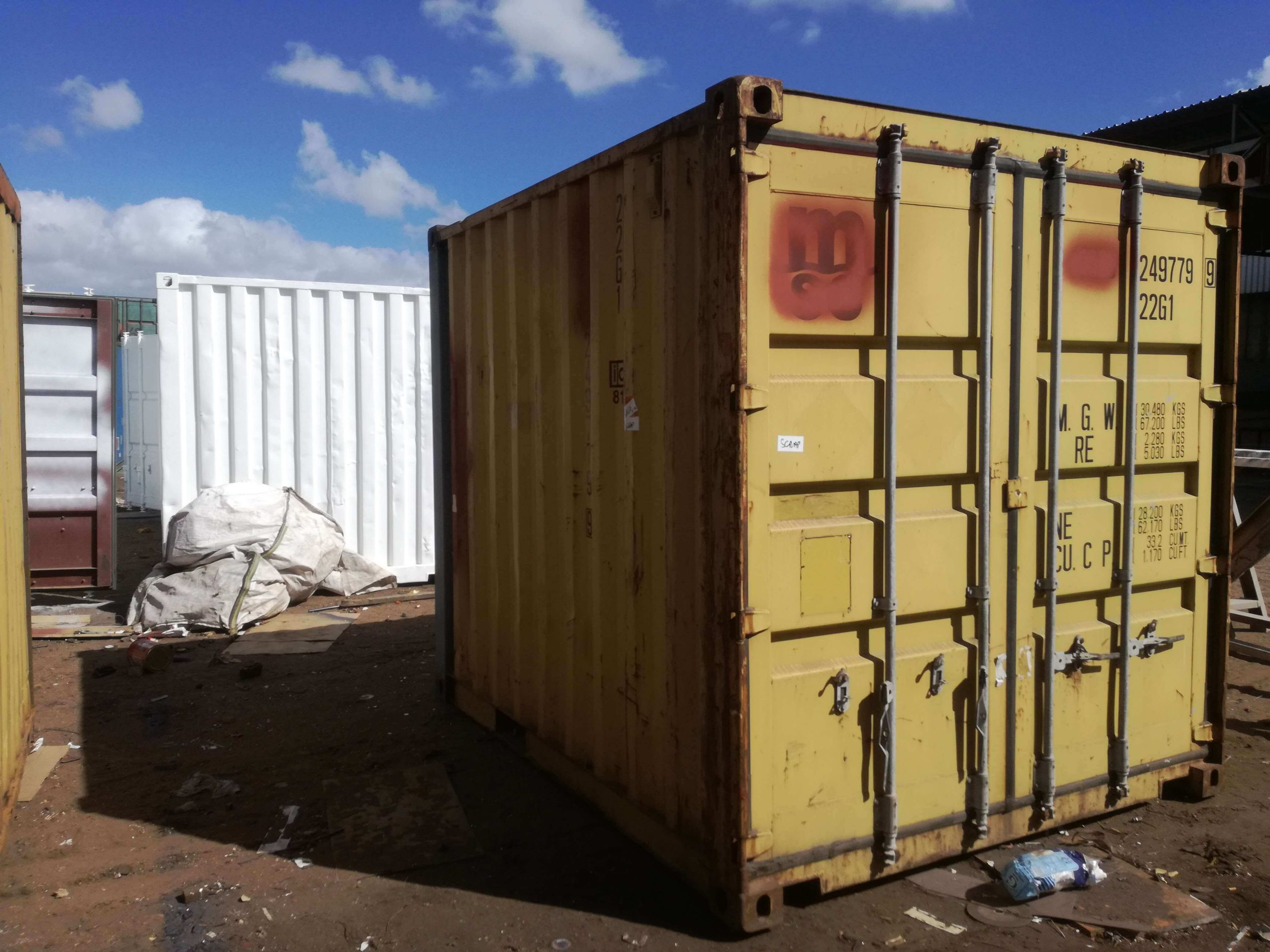 Small Yellow Shipping Container | Container Rental & Sales 031