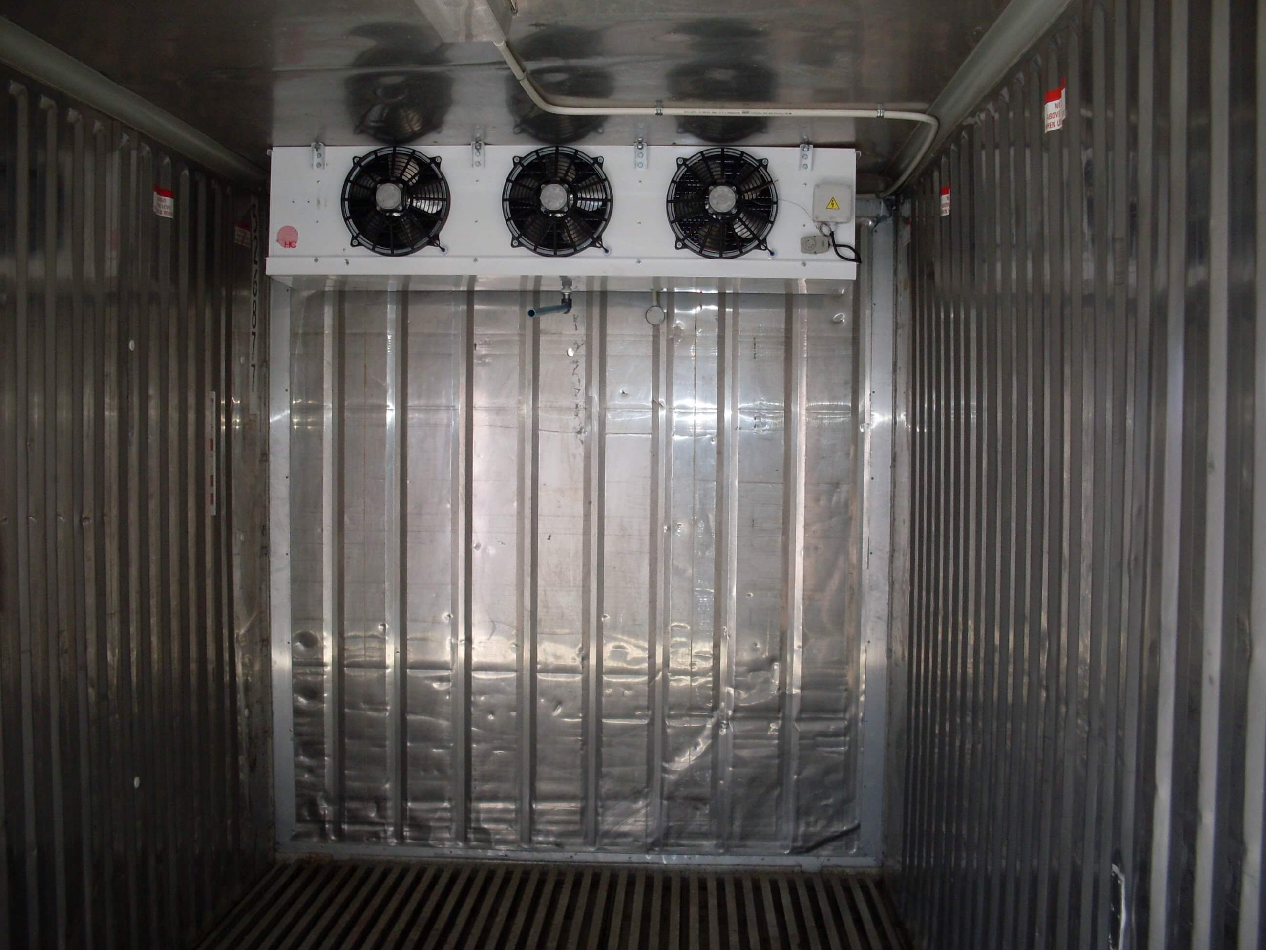 Multiple Aircons In A Shipping Container | Container Rental & Sales