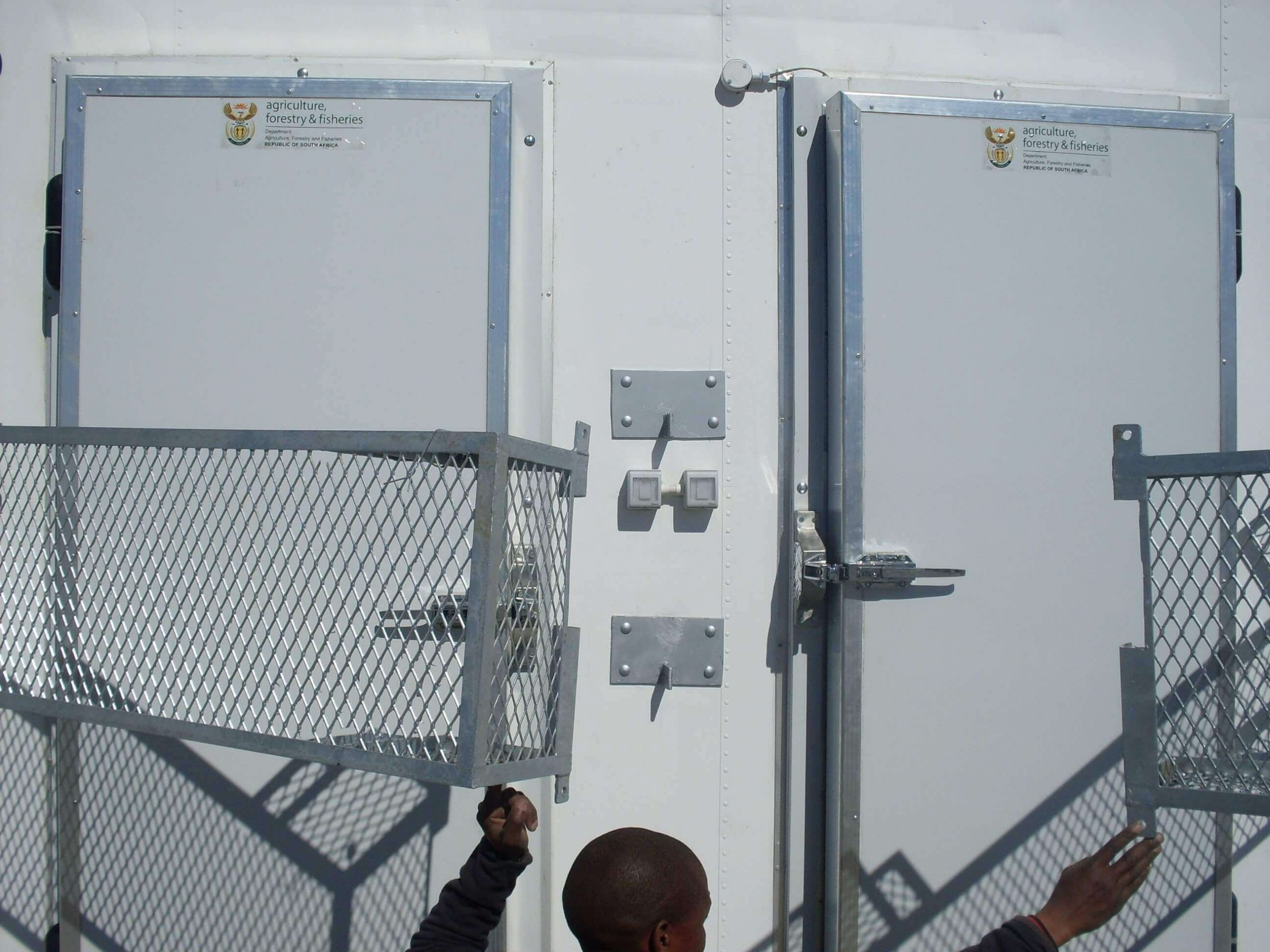 Office Container With Two Closed Doors | Container Rental & Sales 030