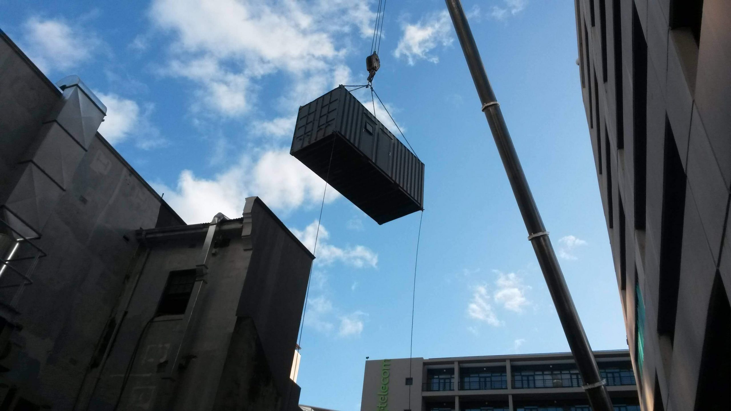 Crane Lifting A Container | Container Rental & Sales 01