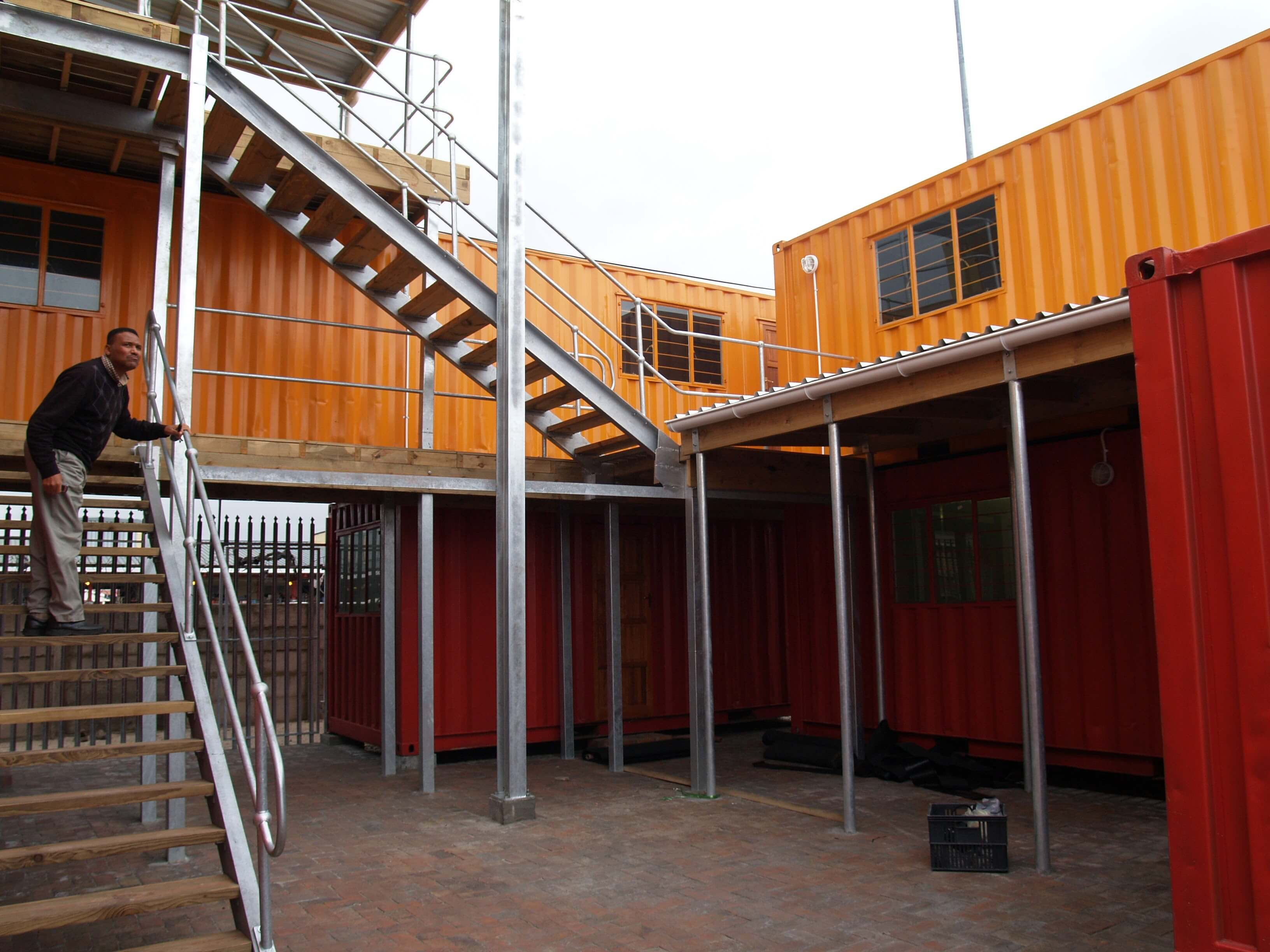 Triple Storey Facility Made From Shipping Containers   Container Rental & Sales