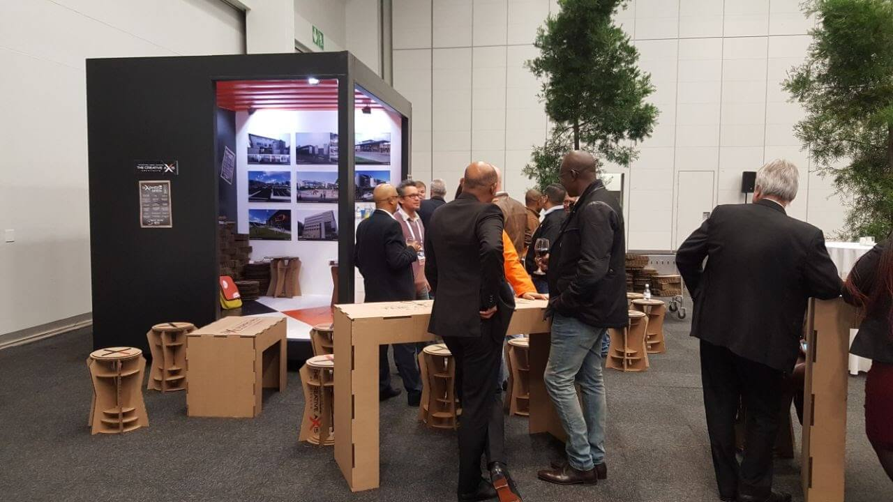 Small Customized Shipping Container Expo Stand | Container Rental & Sales