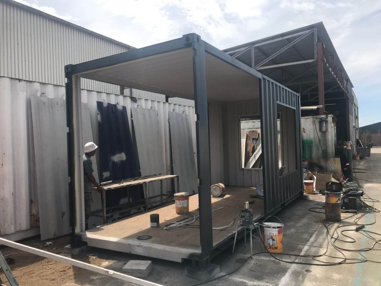 Black Container Being Created | Container Rental & Sales