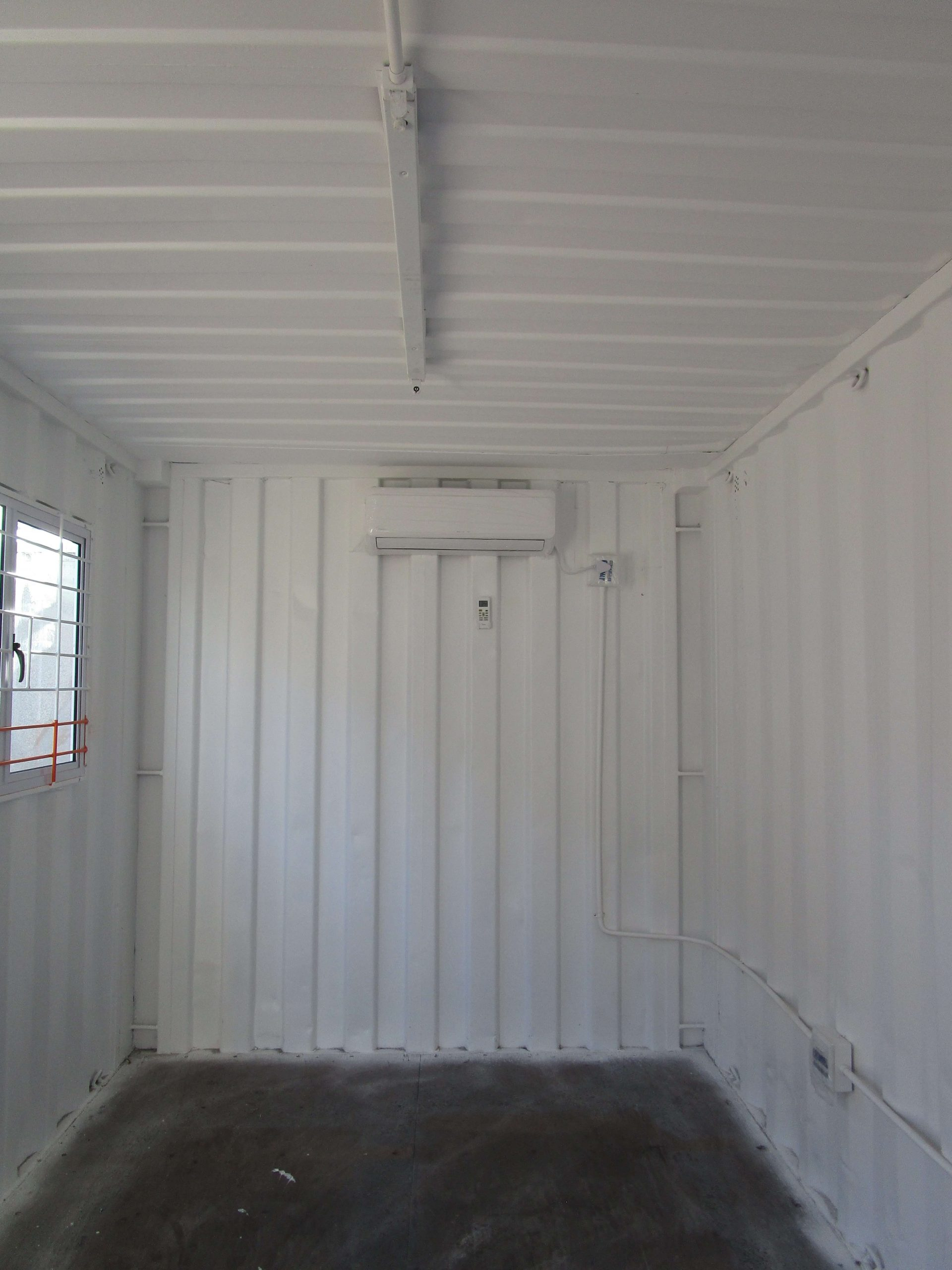 White With Orange Stripe Container Internal View| Container Rental & Sales