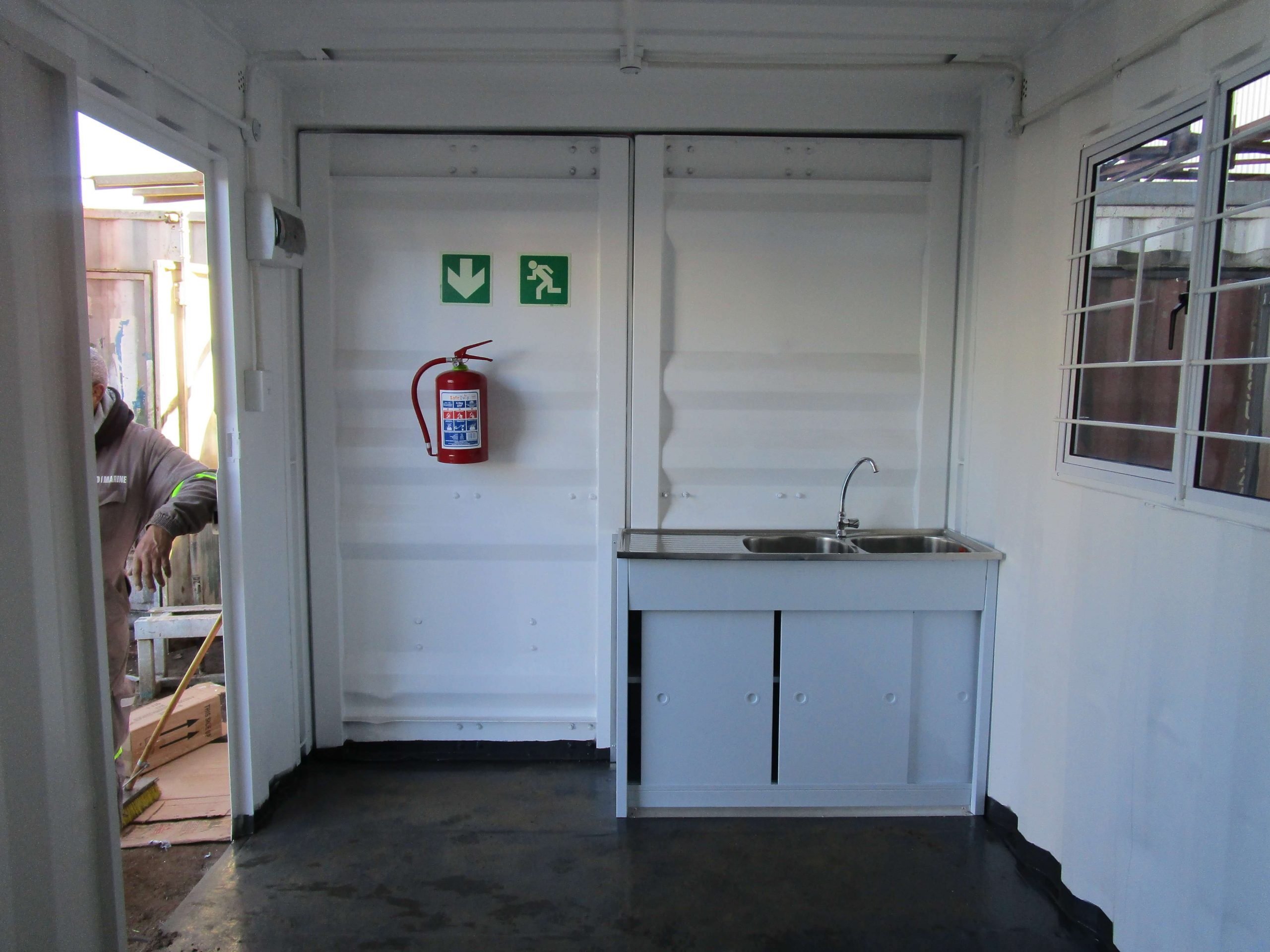 Container With Fitted Sink | Container Rental & Sales