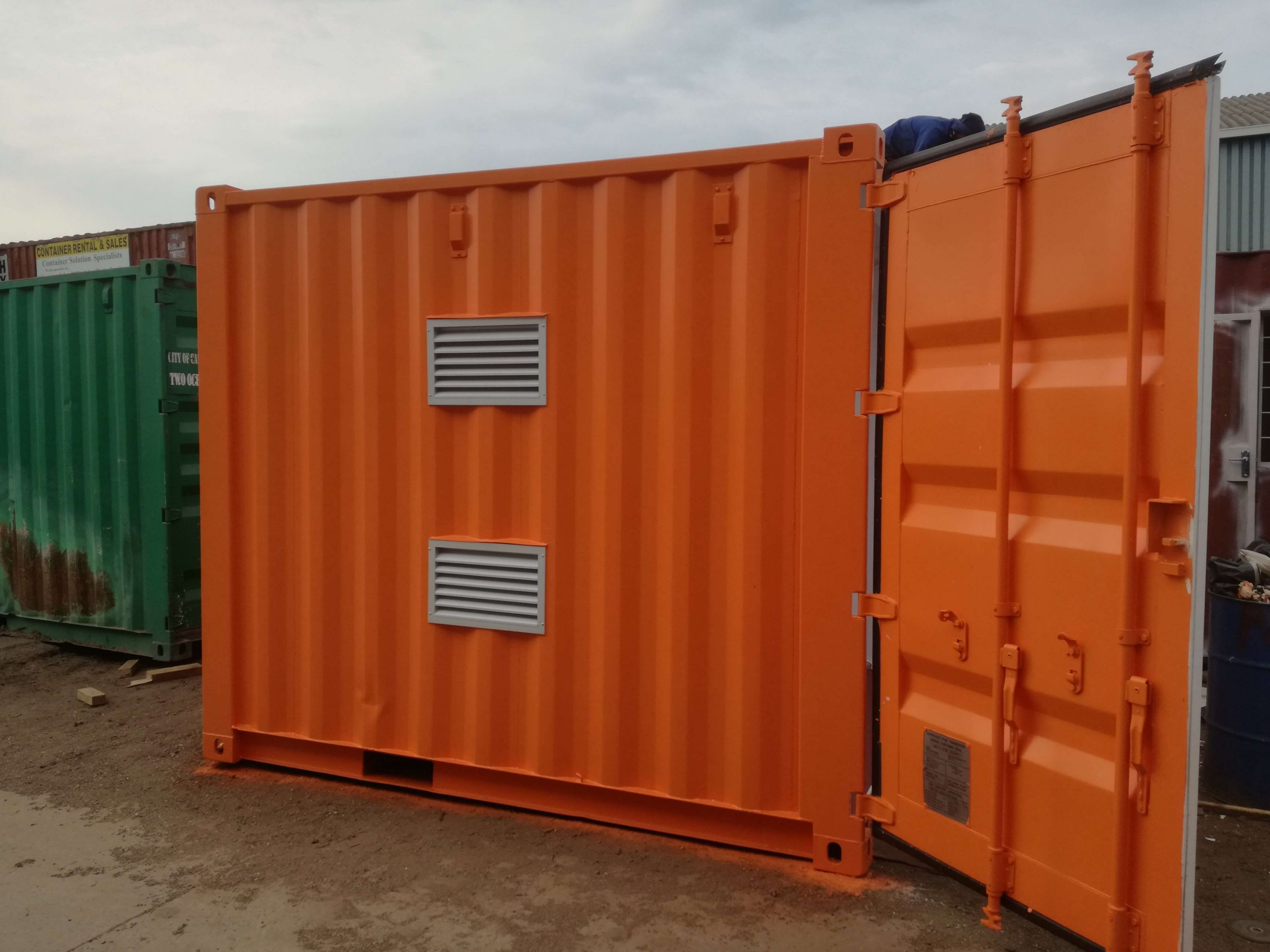 Orange Shipping Container Rental & Sales