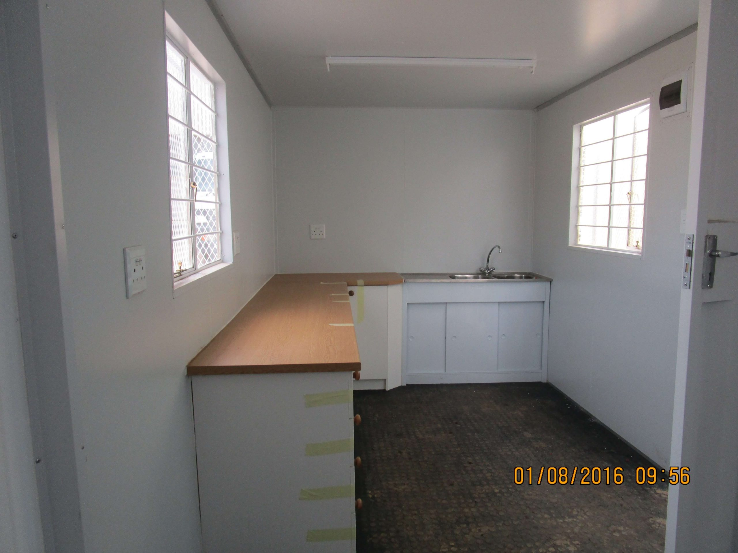 Container With Fitted Kitchen Unit | Container Rental & Sales 01