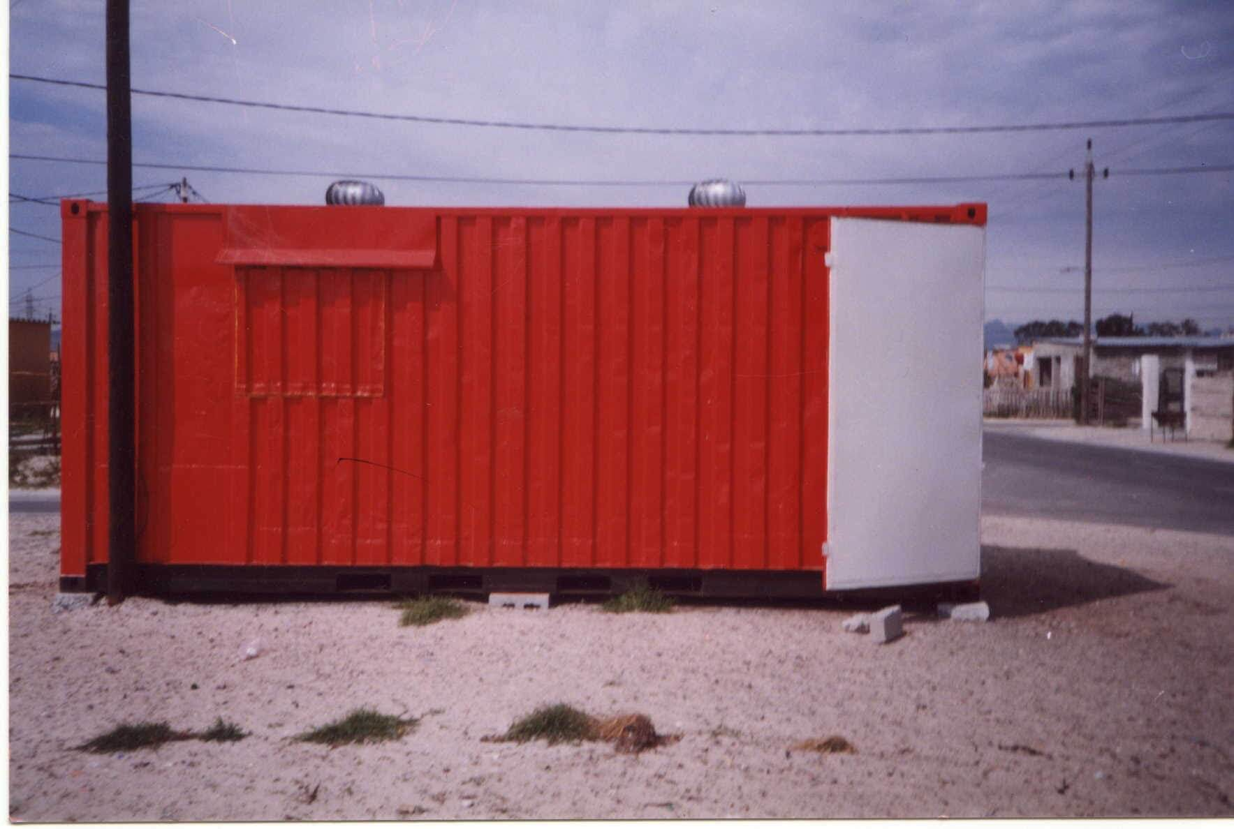 Red Stand Alone Shipping Container | Container Rental & Sales