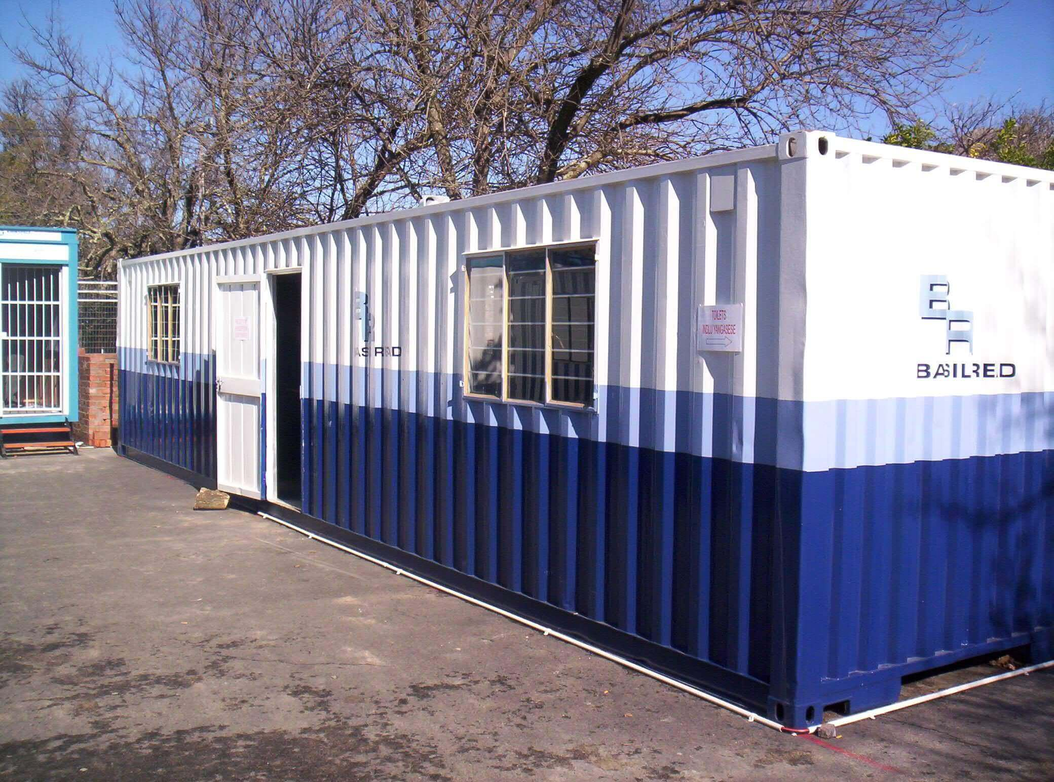 Blue And White Shipping Container | Container Rental & Sales