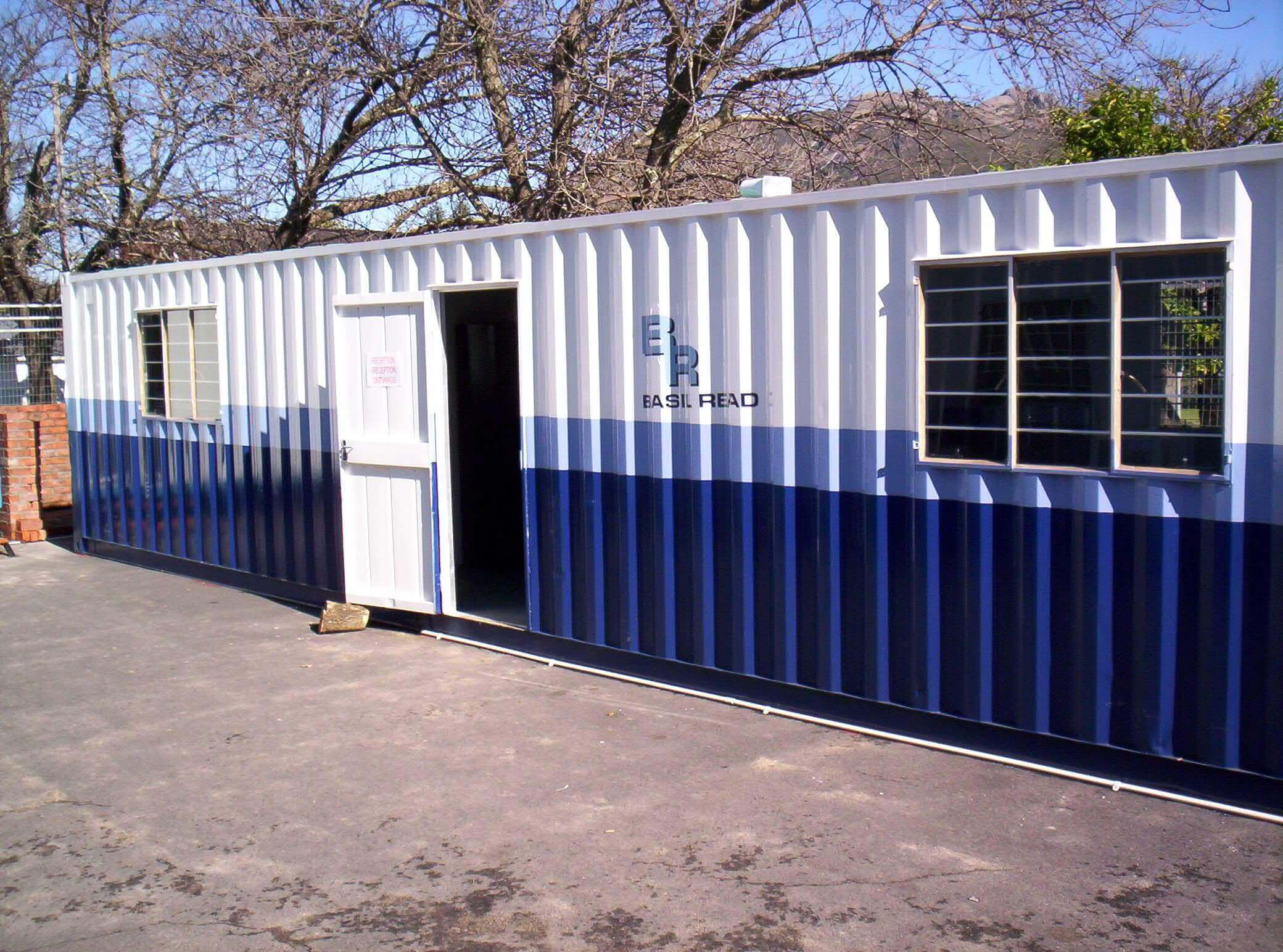 Blue And White Shipping Container | Container Rental & Sales 111