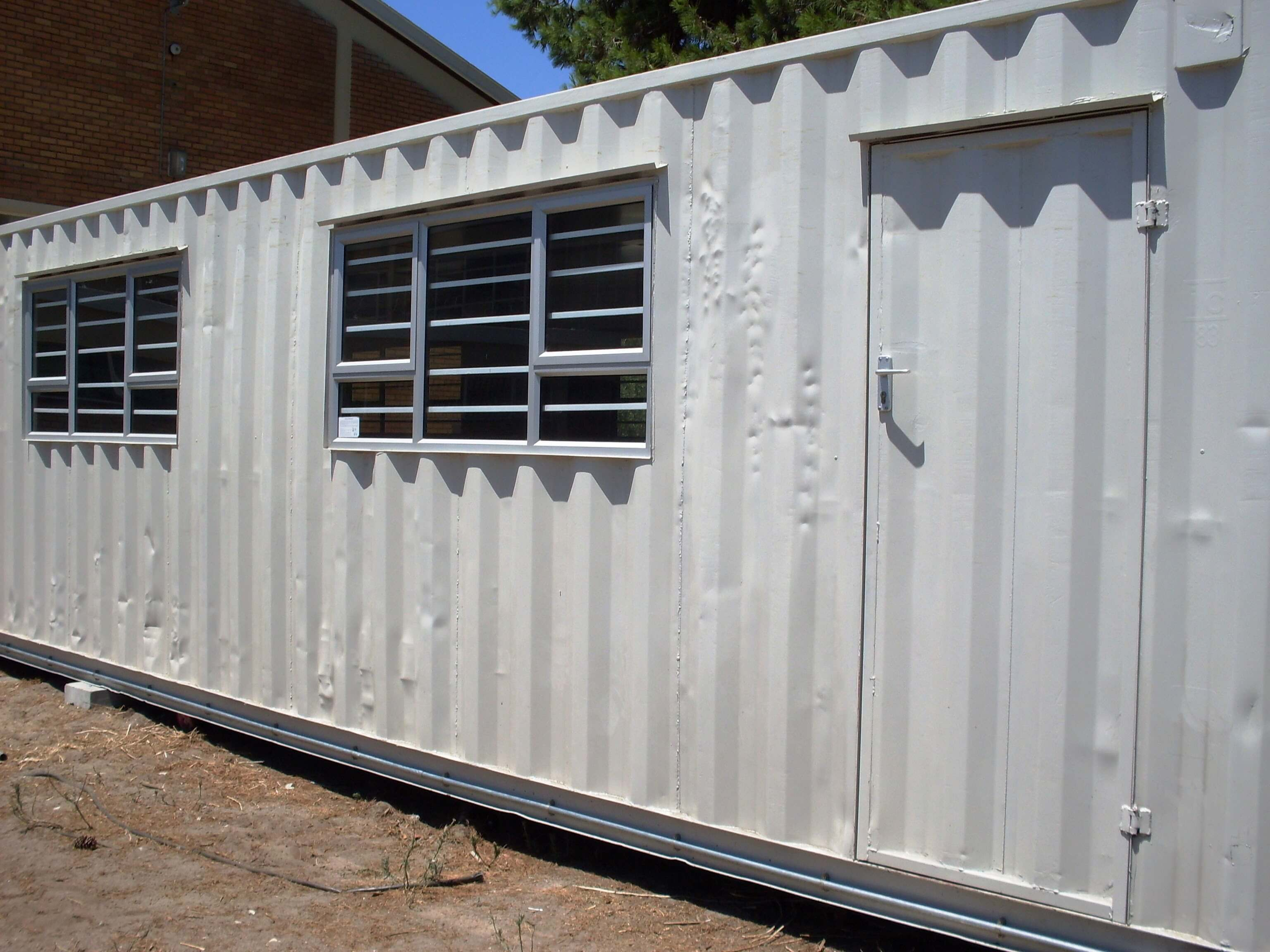 White Shipping Container With Windows | Container Rental & Sales