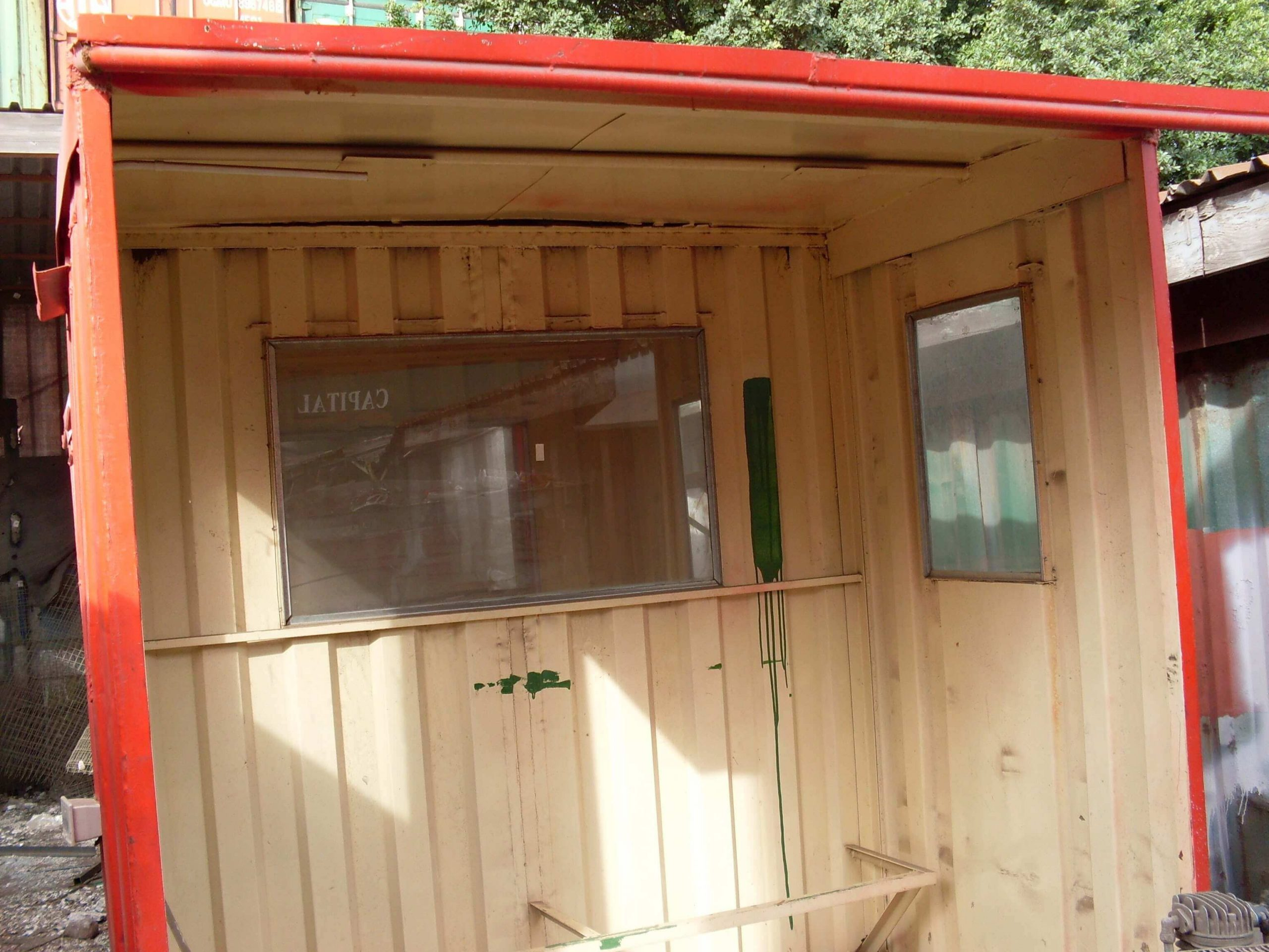Small Red Shipping Container Inside View | Container Rental & Sales