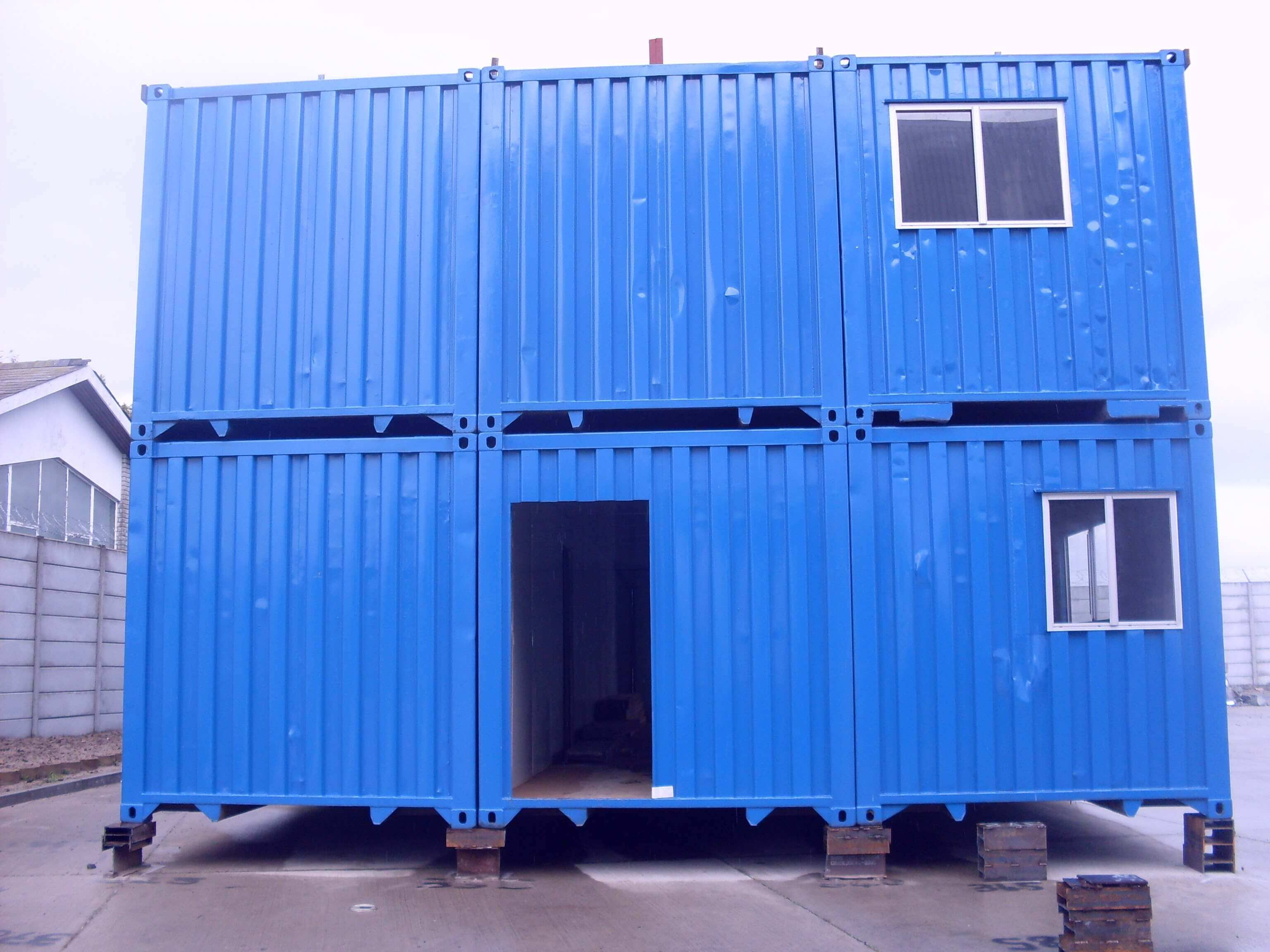 Blue Shipping Containers Stucked Up | Container Rental & Sales