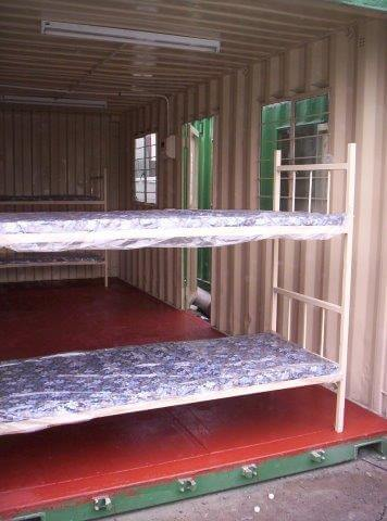 Container With Bunker Beds | Container Rental & Sales