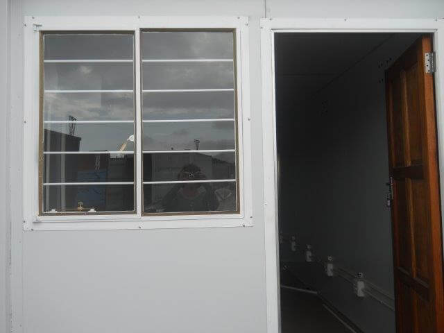 Container With Windows And Wooden Door | Container Rental & Sales