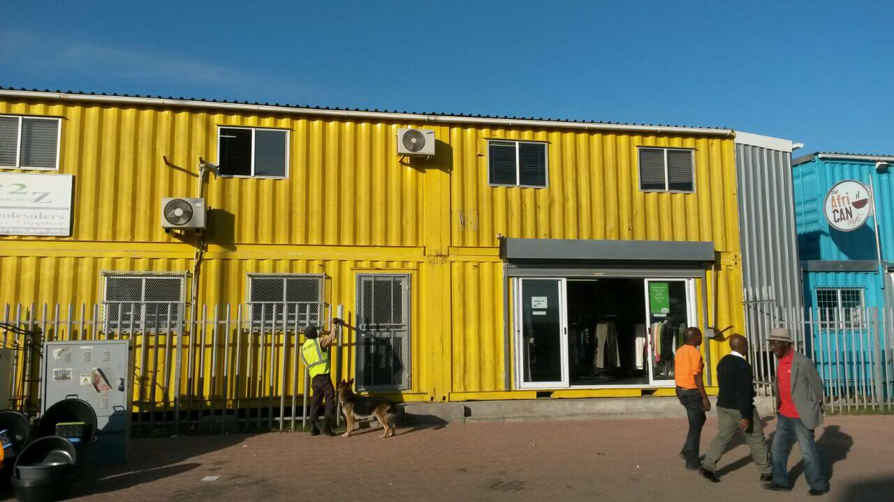 Shipping Container Driving School With Roller Shutter | Container Rental & Sales